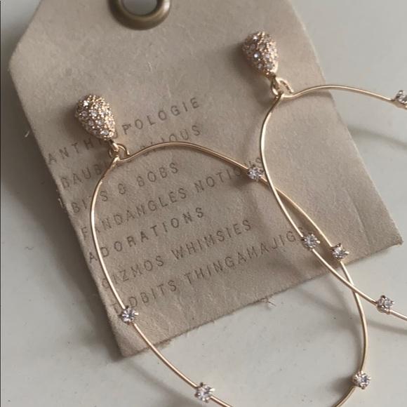 NWT anthropologie Gold Ettka Sequin Earrings